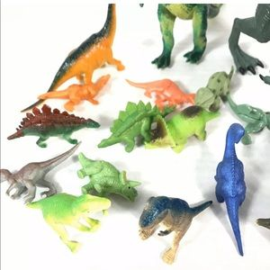 Other - Lot Of 22 Miniature Dinosaurs Toy Rubber Plastic